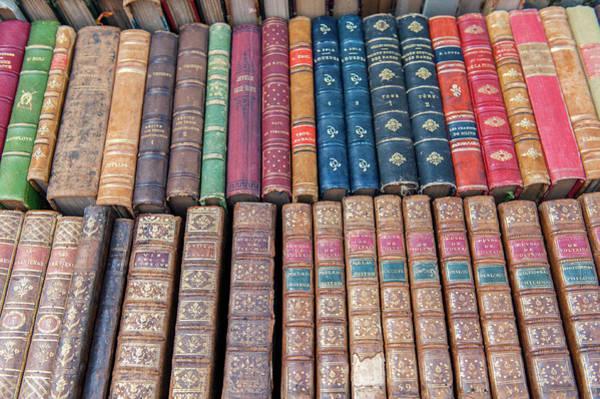 Wall Art - Photograph - Antique French Books, Dijon, Burgundy by Jim Engelbrecht