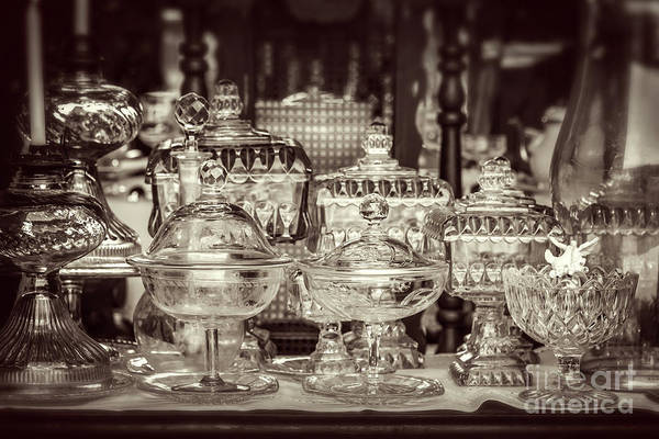 Wall Art - Photograph - Antique Glassware by Delphimages Photo Creations