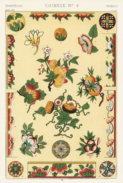 Wall Art - Painting - Antique Illustration Of The Grammar Of Ornament By Owen Jones 4x by Owen Jones