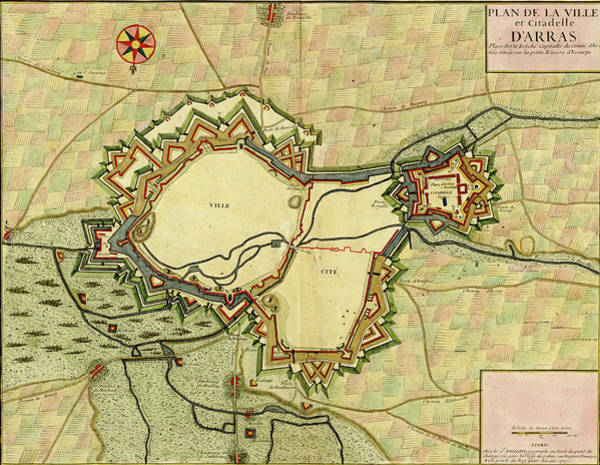 Photograph - Antique Map Of D'arras by Steve Estvanik