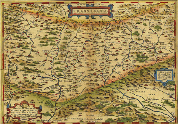 Photograph - Antique Map Of Transylvania, Romania by Steve Estvanik