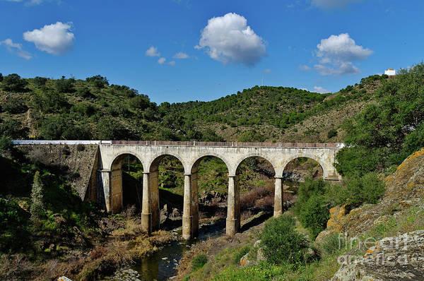 Antique Mertola's Bridge In Alentejo Art Print