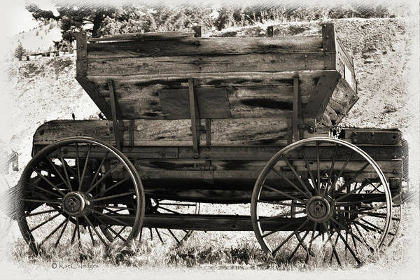 Mixed Media - Antique Mining Wagon by Kae Cheatham