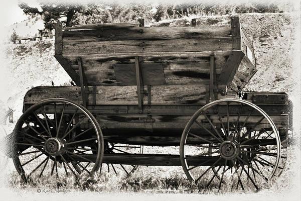 Wall Art - Mixed Media - Antique Mining Wagon by Kae Cheatham