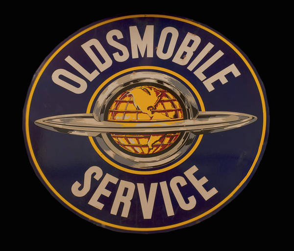 Photograph - Antique Oldsmobile Service Sign by Chris Flees