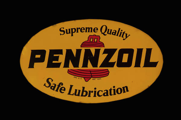 Photograph - Antique Pennzoil Sign by Chris Flees