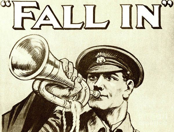 20th Century Man Drawing - Antique Recruitment Poster For The British Army During World War One by English School