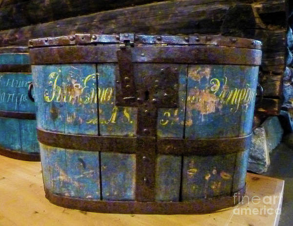 Wall Art - Photograph - Antique Rosemaled Bucket by Norma Brandsberg
