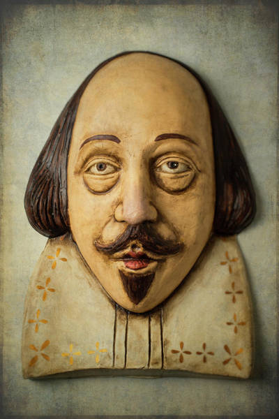 Wall Art - Photograph - Antique Shakesphere Mask by Garry Gay