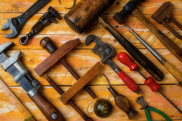 Wall Art - Photograph - Antique Tools by Garry Gay