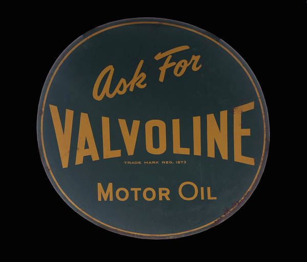 Photograph - antique Valvoline motor oil sign by Chris Flees