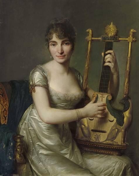 Wall Art - Painting - Antoine Vestier Avallon, Yonne 1740-1824 Paris Portrait Of Madame Larmoyer, by Antoine Vestier