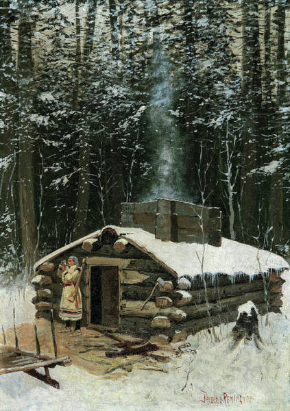 Wall Art - Painting - Antoine's Cabin, 1890 by Frederic Remington