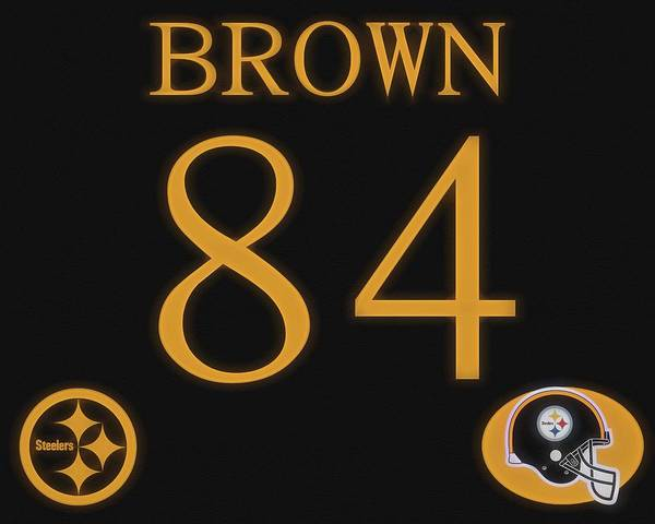 Mixed Media - Antonio Brown Jersey by Dan Sproul