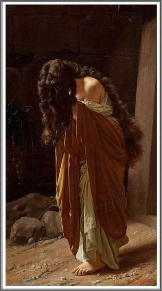 Wall Art - Painting - Antonio Ciseri 1821-1891, Marie-madeleine - 1870 by Antonio Ciseri