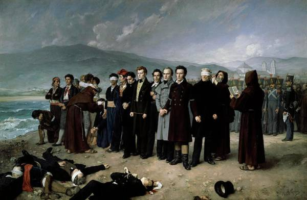 Wall Art - Painting - Antonio Gisbert Perez / 'the Execution By Firing Squad Of Torrijos...', 1888. by Antonio Gisbert -1834-1901-