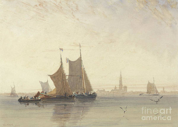 Wall Art - Painting - Antwerp, Morning, 1832 by David Cox