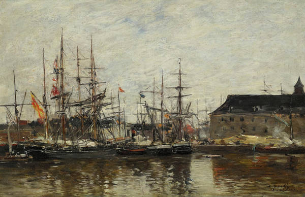 Wall Art - Painting - Antwerp, Trois-mats At Quay by Eugene Boudin