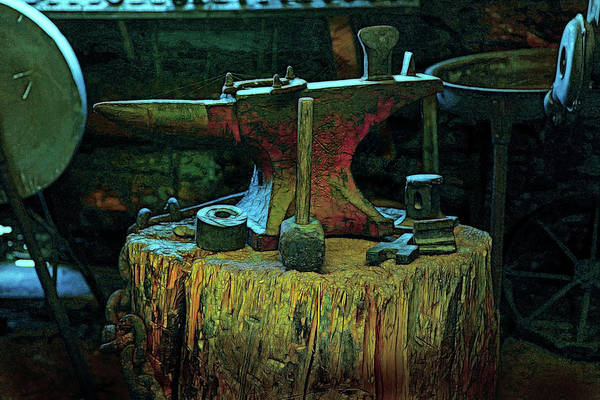 Wall Art - Photograph - Anvil And Hammer by Mike Flynn