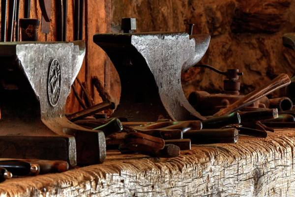 Photograph - Anvil And Tools by Jerry Sodorff