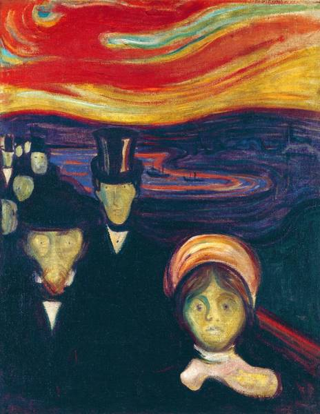 Inferno Painting - Anxiety - Digital Remastered Edition by Edvard Munch