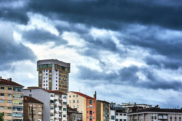 Photograph - Apartment Buildings In Ourense by Fine Art Photography Prints By Eduardo Accorinti
