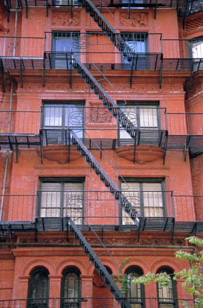 Wall Art - Photograph - Apartment Fire Escapes, Brooklyn, New by Jean Brooks / Robertharding