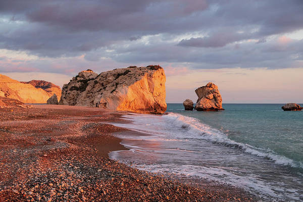 Stone Wall Art - Photograph - Aphrodite's Birthplace Or Petra Tou Romiou In Cyprus 2 by Iordanis Pallikaras