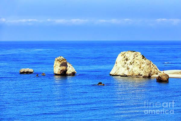 Photograph - Aphrodite's Rocks In Cyprus by John Rizzuto