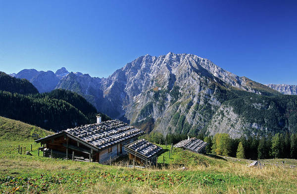 Chalet Photograph - Apine Huts With Watzmann, Berchtesgaden by Andreas Strauss / Look-foto