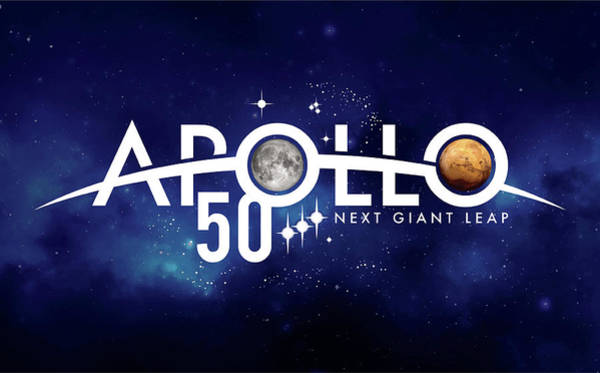 Wall Art - Photograph - Apollo 11, 50th Anniversary Logo, 2019 by Science Source