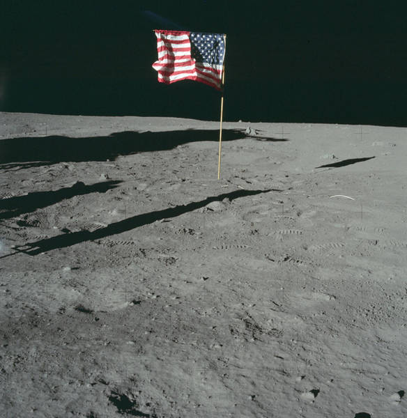 Photograph - Apollo 11, American Flag, 1969 by Science Source