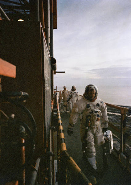 Wall Art - Photograph - Apollo 11 Astronauts, Prelaunch by Science Source