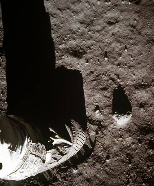 Photograph - Apollo 11, Buzz Aldrin Bootprint, 1969 by Science Source