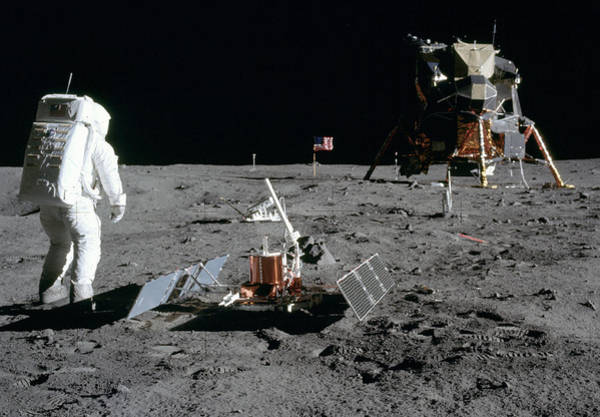 Photograph - Apollo 11, Buzz Aldrin Deploys Easep by Science Source