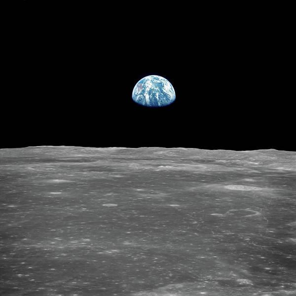 Pale Blue Dot Wall Art - Photograph - Apollo 11 - Earthrise by Nasa