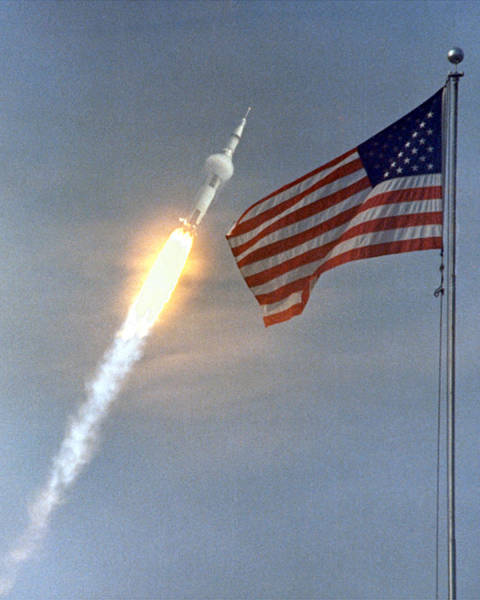 Photograph - Apollo 11 Launch, 1969 by Science Source