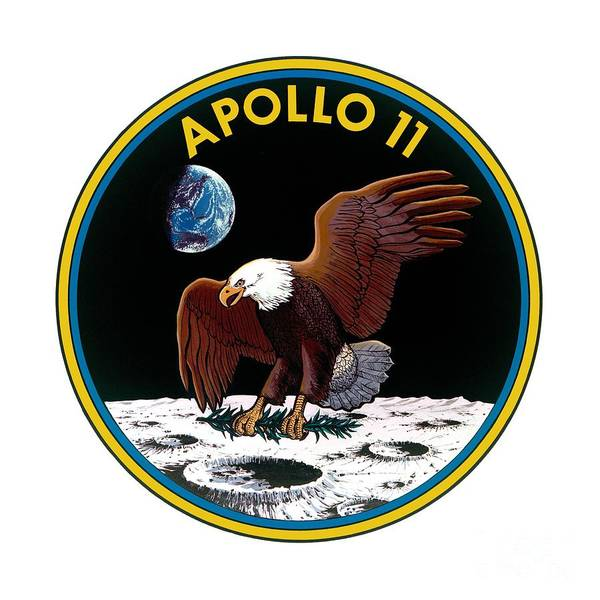 Wall Art - Digital Art - Apollo 11 Mission Patch by Nikki
