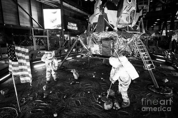 Wall Art - Photograph - Apollo 11 Moon Landing Replica In The Apollo/saturn 5 Center Kennedy Space Center Florida Usa On The by Joe Fox