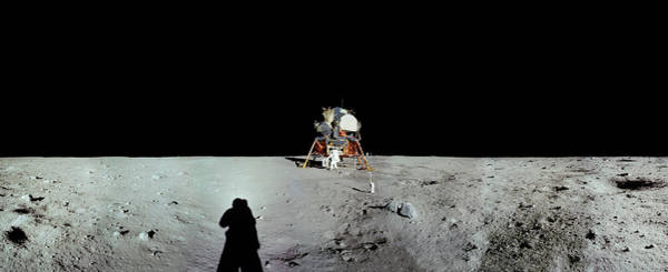 Photograph - Apollo 11 Panorama Of The First Men by Andy Myatt