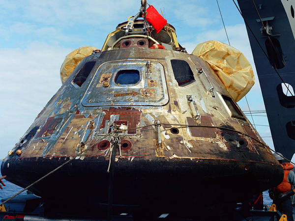 Photograph - Apollo 11 Recovery, Command Module, 1969 by Science Source