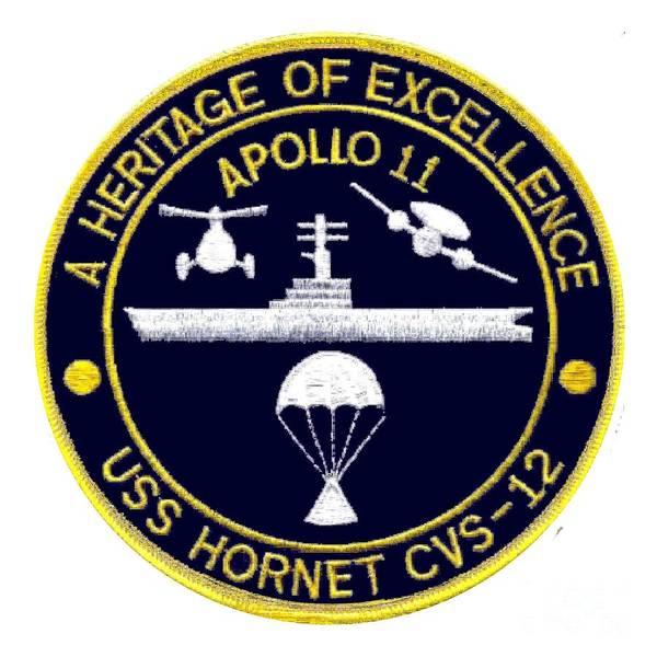 Uss Hornet Digital Art - Apollo 11 Recovery Cvs 12 by Nikki
