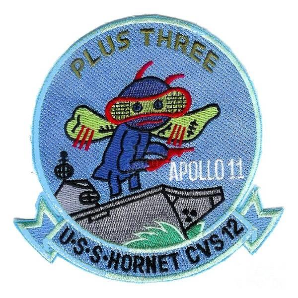 Uss Hornet Digital Art - Apollo 11 Recovery Plus Three by Nikki