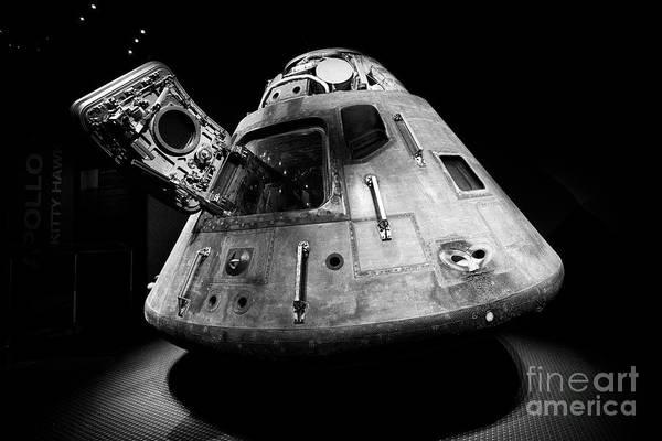 Wall Art - Photograph - Apollo 14 Crew Capsule In The Treasures Gallery In The Apollo/saturn 5 Center Kennedy Space Center F by Joe Fox