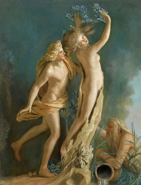 Jean Etienne Liotard Wall Art - Painting - Apollo And Daphne, 1736 by Jean-Etienne Liotard