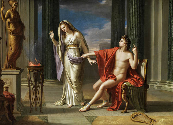Painting - Apollo And Vesta by Francois Andre Vincent
