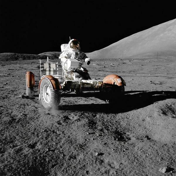 Wall Art - Painting - Apollo    Lunar Roving Vehicle  by Nasa