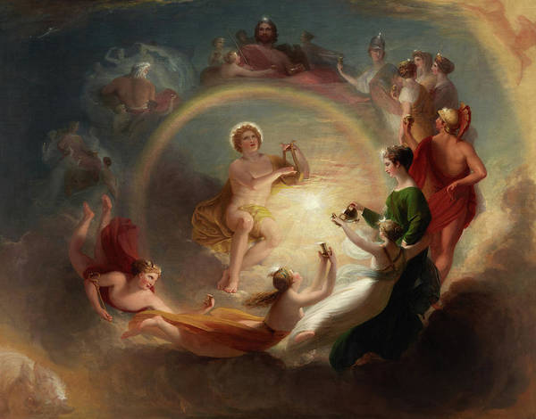 Enchantment Painting - Apollo's Enchantment by Benjamin West