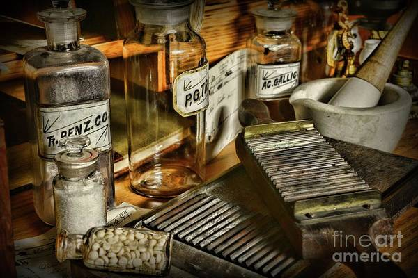 Wall Art - Photograph - Apothecary-vintage Pill Maker by Paul Ward