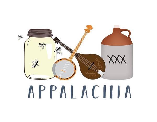 Digital Art - Appalachia Music by Heather Applegate